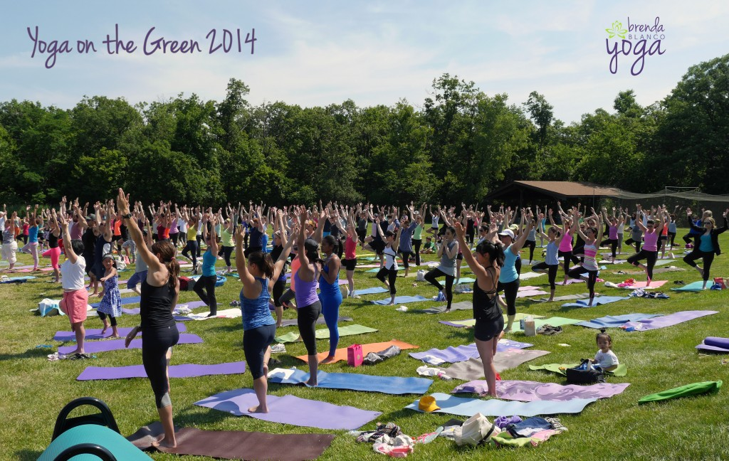 Yoga on the Green 2014