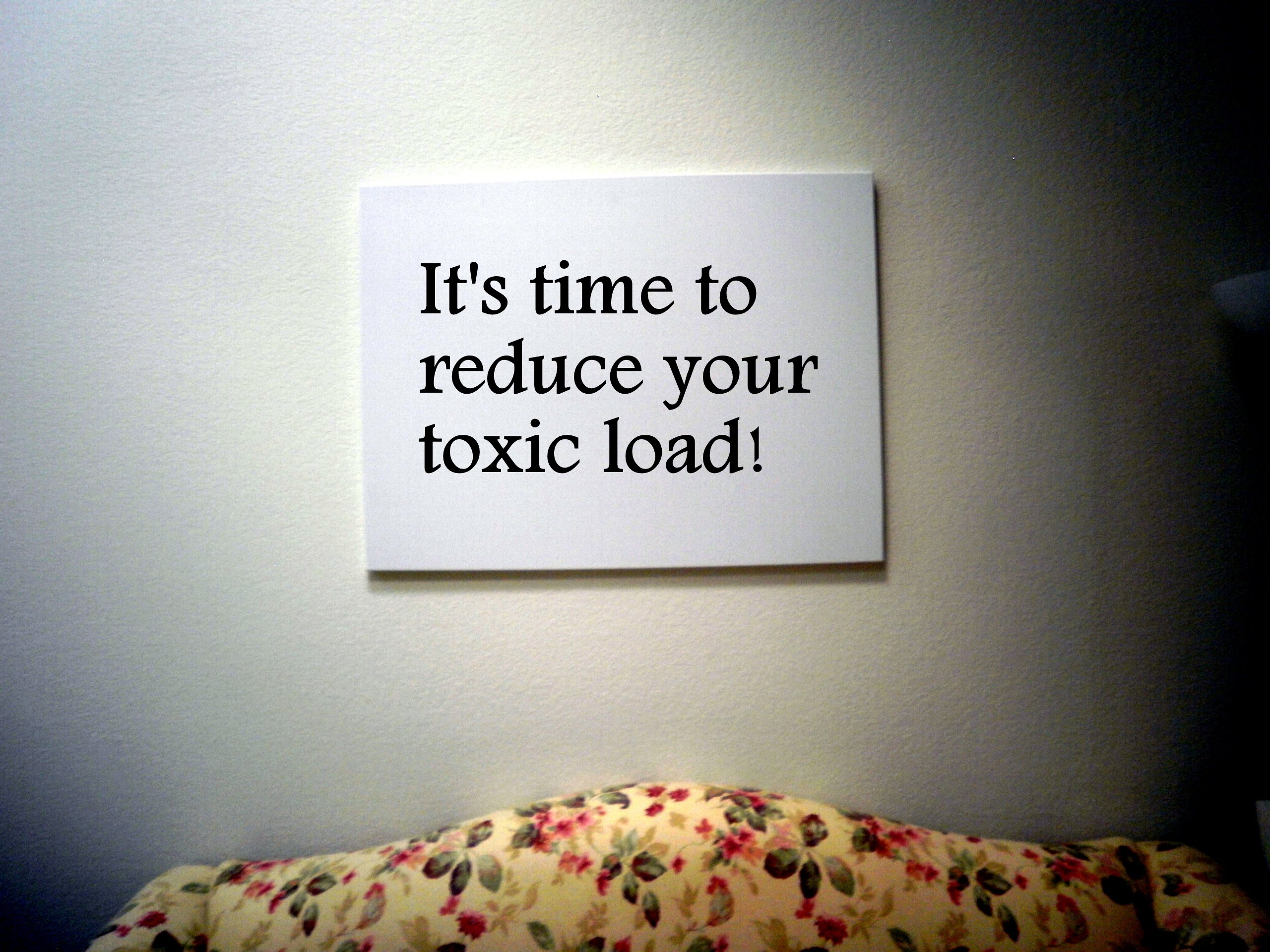 Reduce Your Toxic Intake